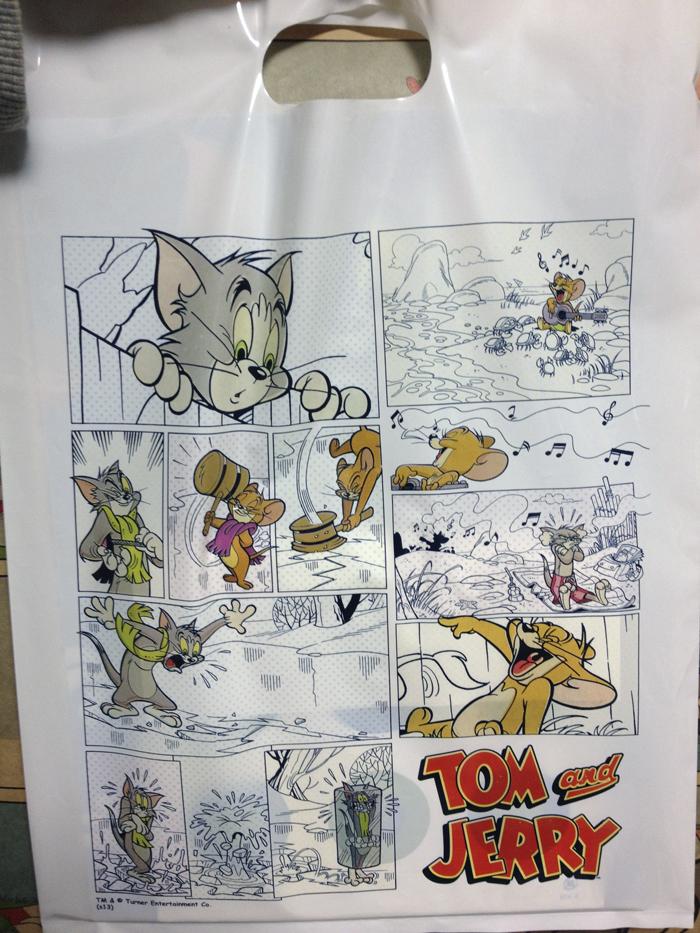 トムジェリ展の袋